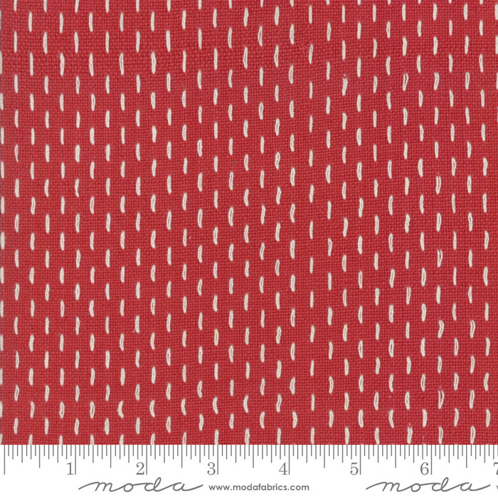 Moda-French Sashiko Rouge 12562 11