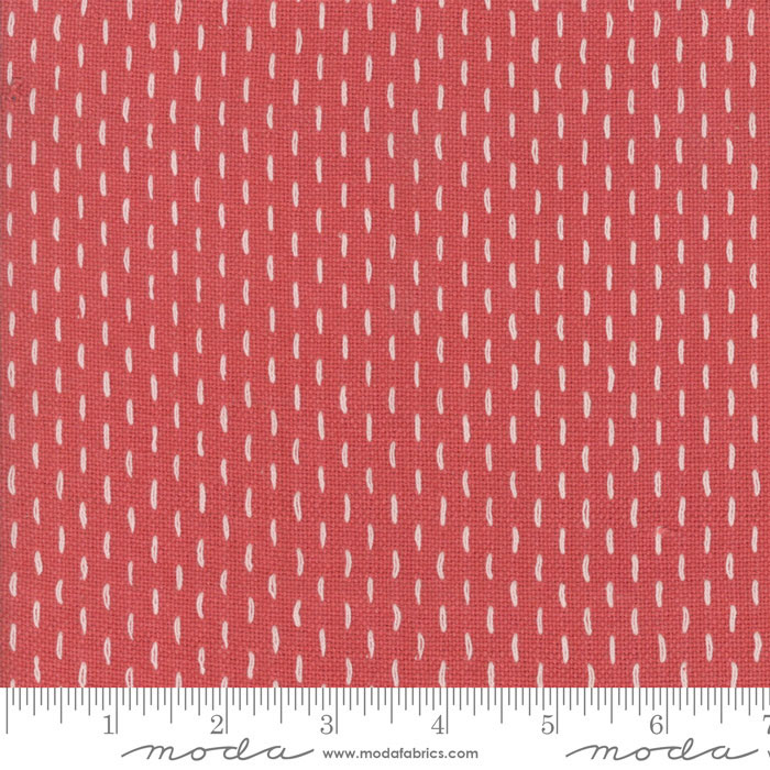 French Sashiko Faded Red 12562 12