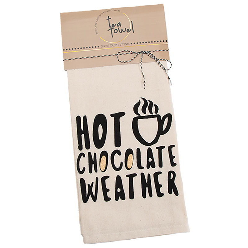 Hot Chocolate Weather Tea Towel by Zen Chic