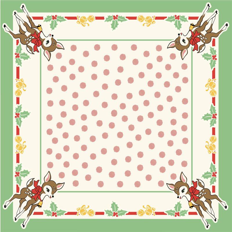 Deer Christmas Tablecloth 52 x 52