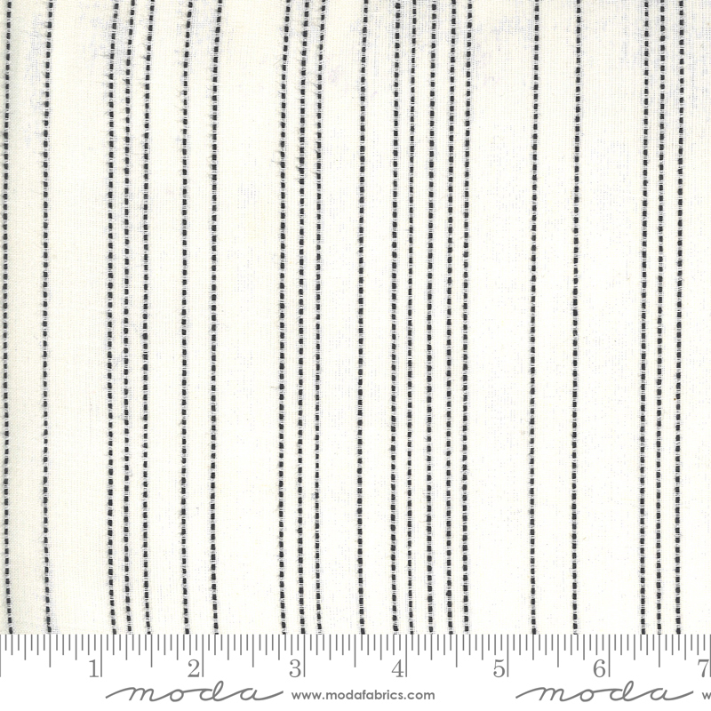 Low Volume Wovens - Stitched Stripe - Ivory
