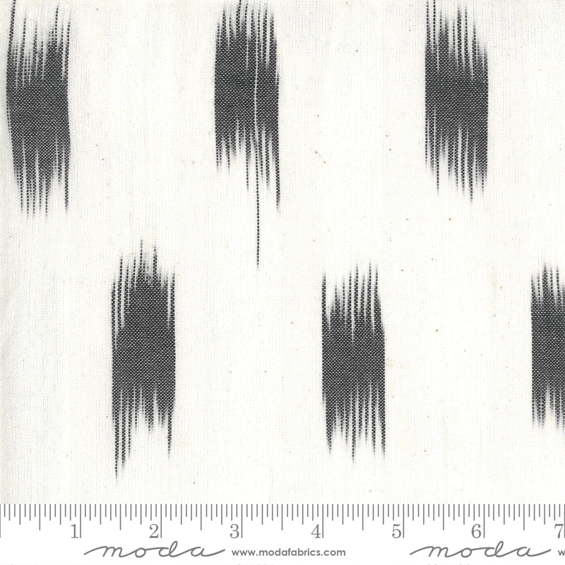 Low Volume Wovens - Ikat - Ivory Charcoal