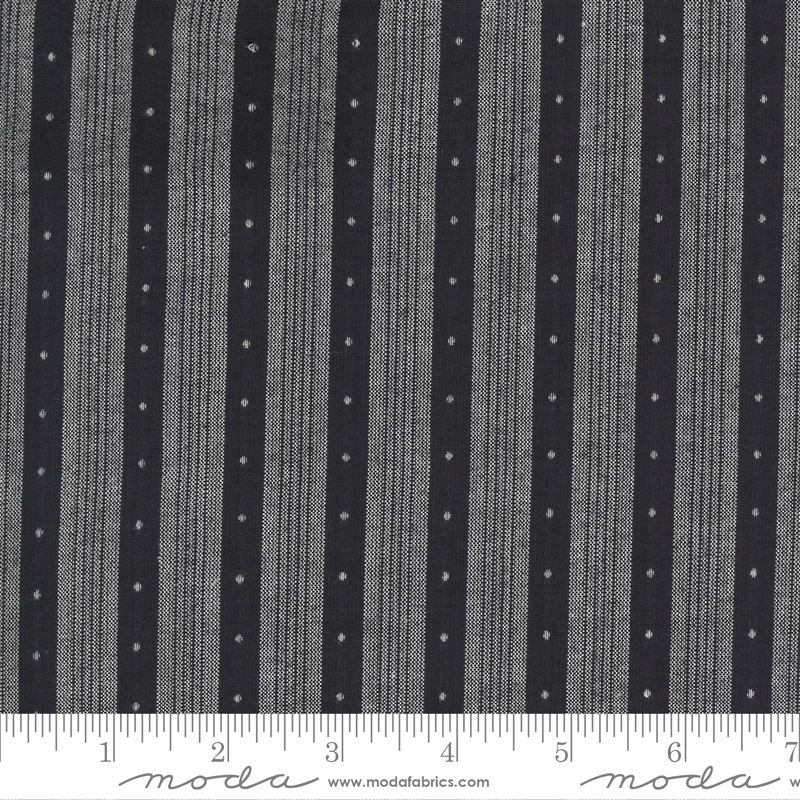 Low Volume Wovens - Stripe Dots - Charcoal