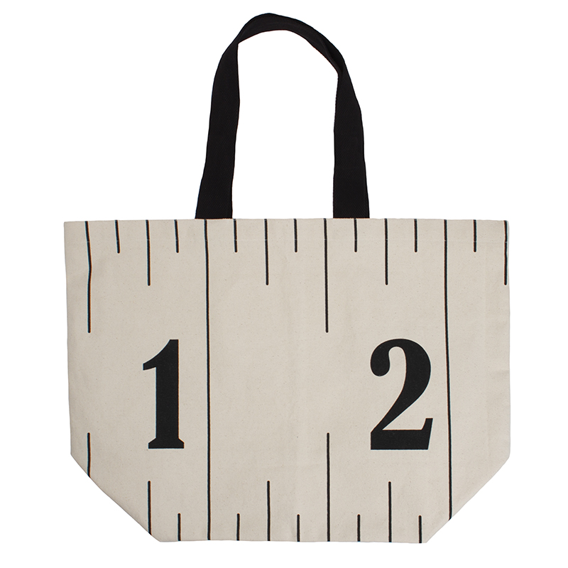 Measure Up Canvas Tote