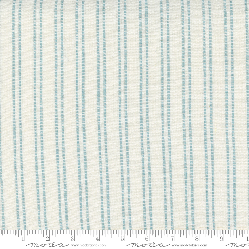 Lakeside Toweling by Pieces to Treasure - Woven Stripe - Off White/Storm - 18