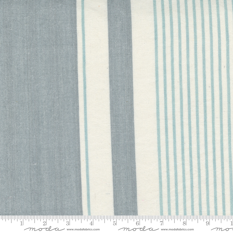Lakeside Toweling by Pieces to Treasure - Woven Stripe - Silver - 60