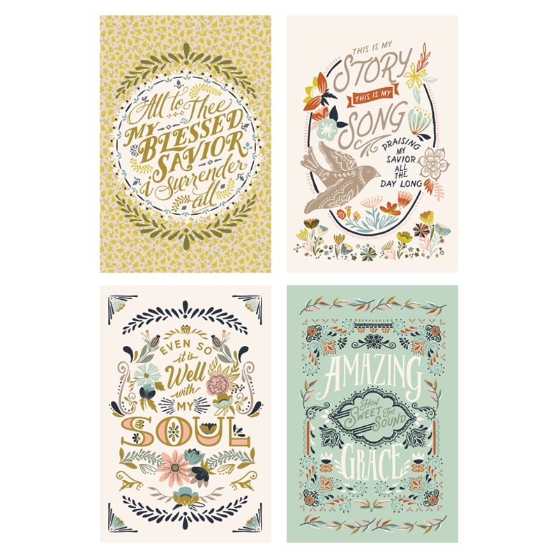 Tea Towel - Songbook - Set of 4