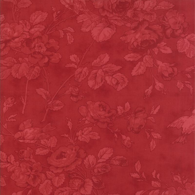 108 Wintergreen Quilt Crimson