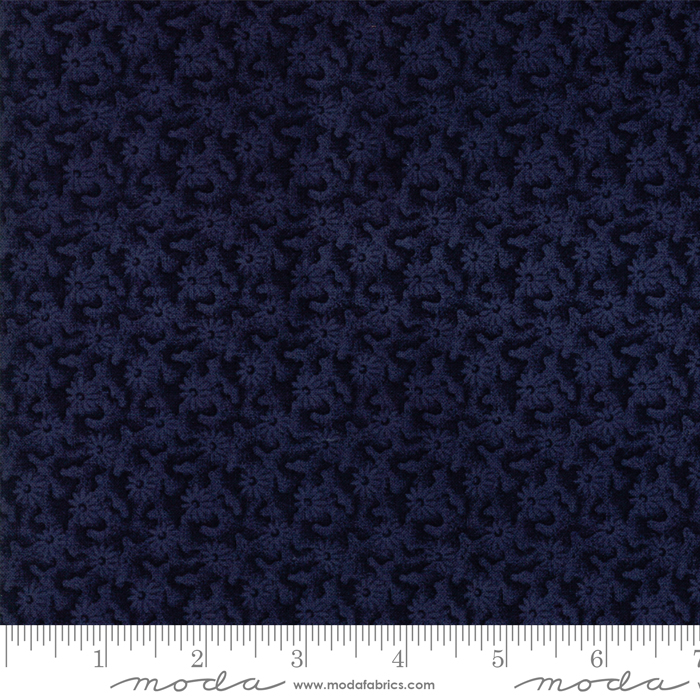 108 Moda Fresh Cut Flowers Navy 11140 - 14 *