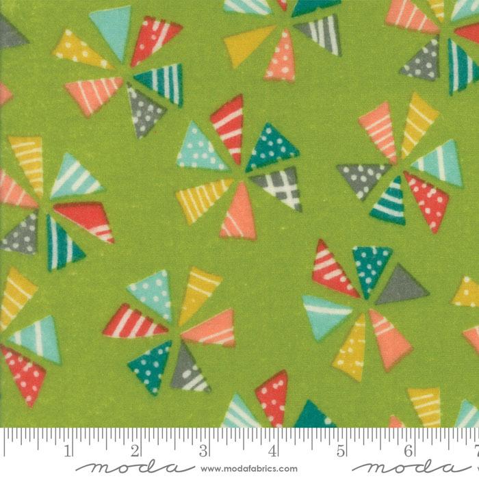 Pinwheels Grass - Flannel *Clearance*