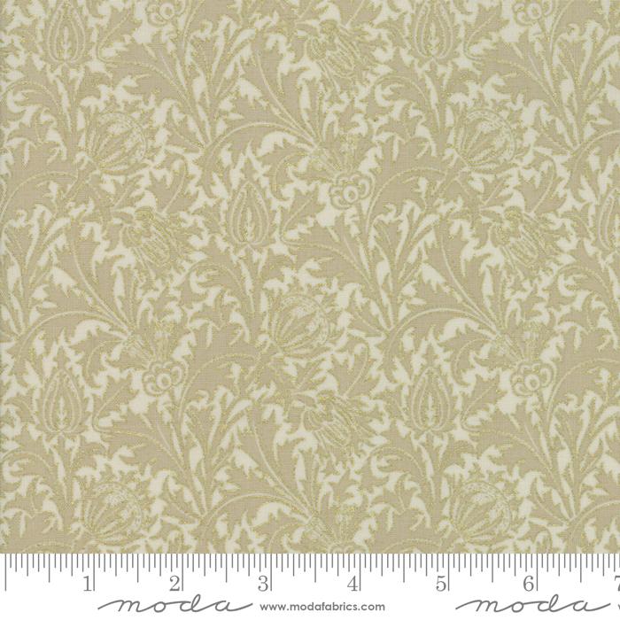 108 Morris Holiday Metallic Backing Fabric 11144 11M
