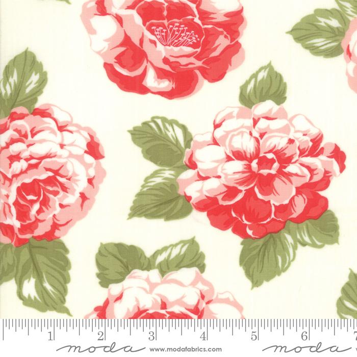 Moda 108 Wide Back Early Bird Blooms Cream 11157 17