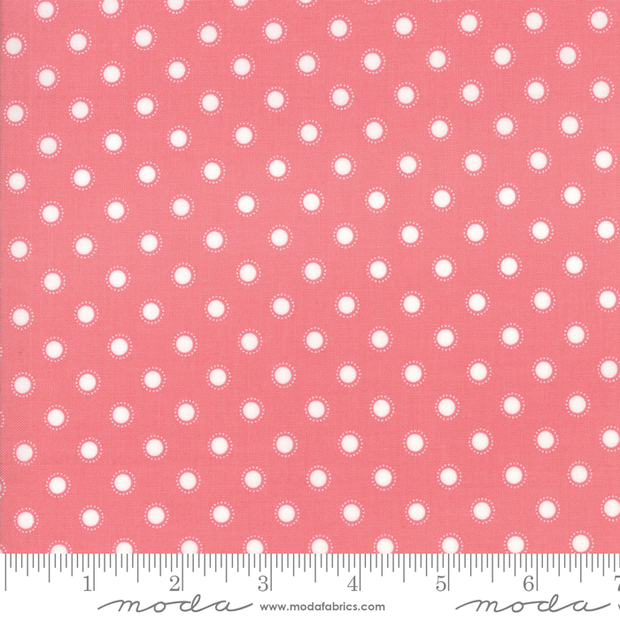 108 Wide Dot Fabric - Rose Bloomington Collection from Moda Fabrics