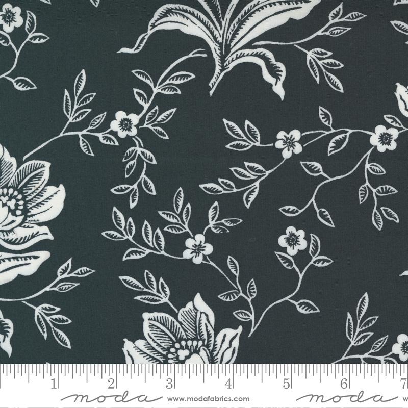 108 Woodcut Floral Coal