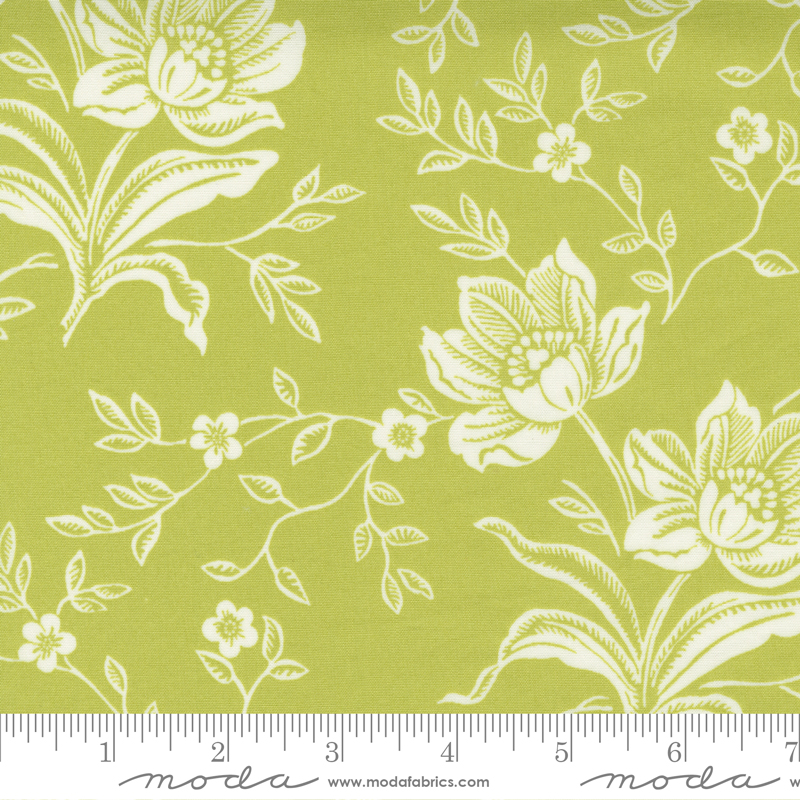 108 Woodcut Floral Green 11175 16