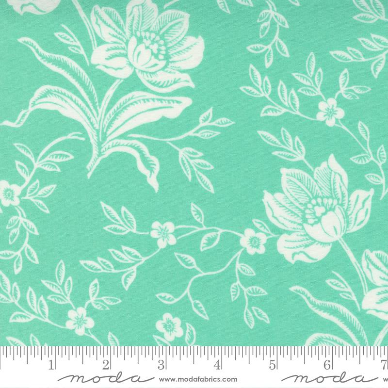 108 Woodcut Floral Mint