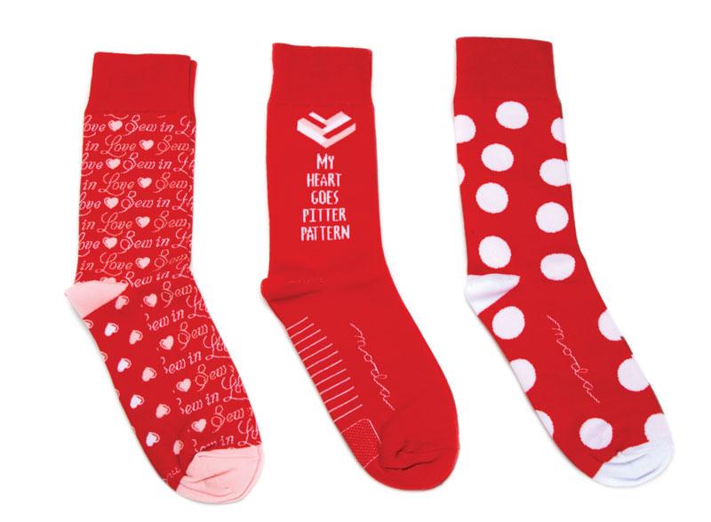Valentine Socks white polka dot