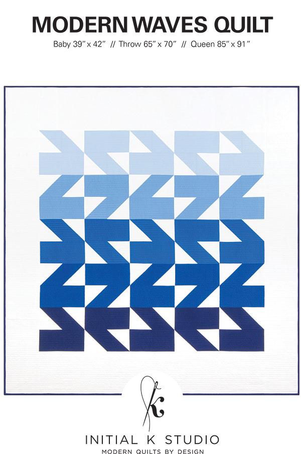 Modern Waves Quilt IKS1016