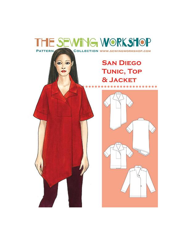San Diego Tunic Top & Jacket Pattern