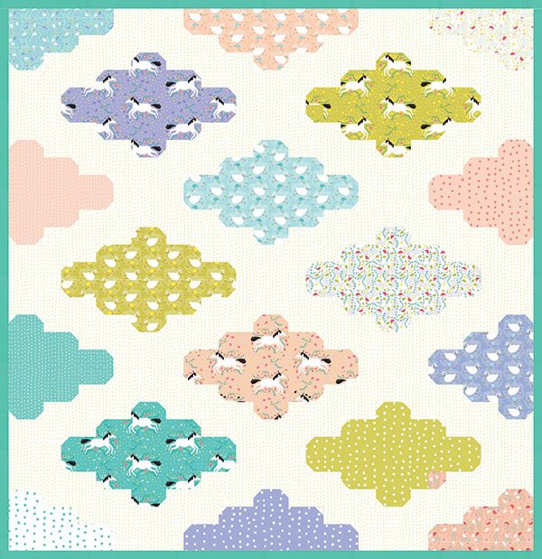 Sale Sun Clouds- a pattern by Bloomfield & Ray+