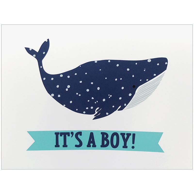 Its A Boy Box Set Cards Whale