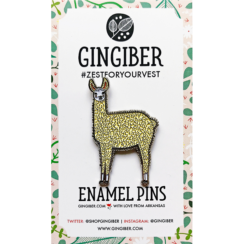 Enamel Pin Llama