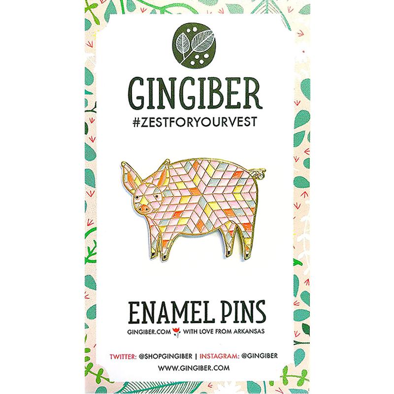 Enamel Pin Pig
