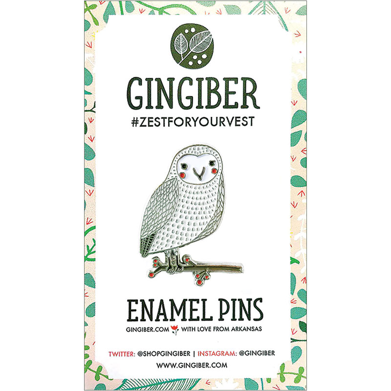Merriment Enamel Pin Owl