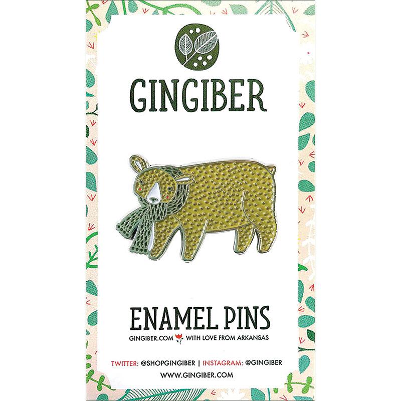 Merriment Enamel Pin Bear