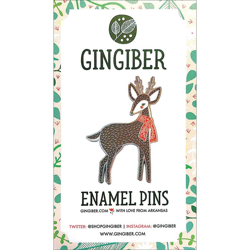 Merriment Enamel Pin Deer