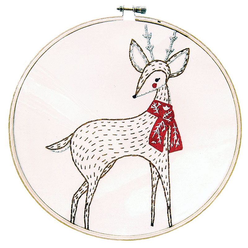 Merriment Embroidery Sample Deer