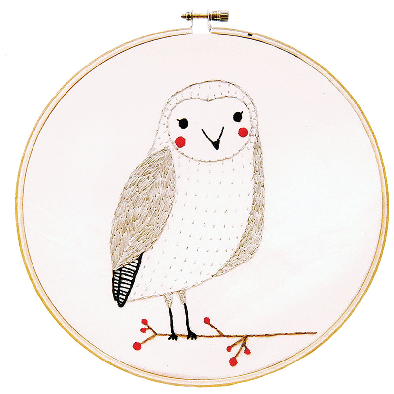 Merriment Embroidery Sampler Owl