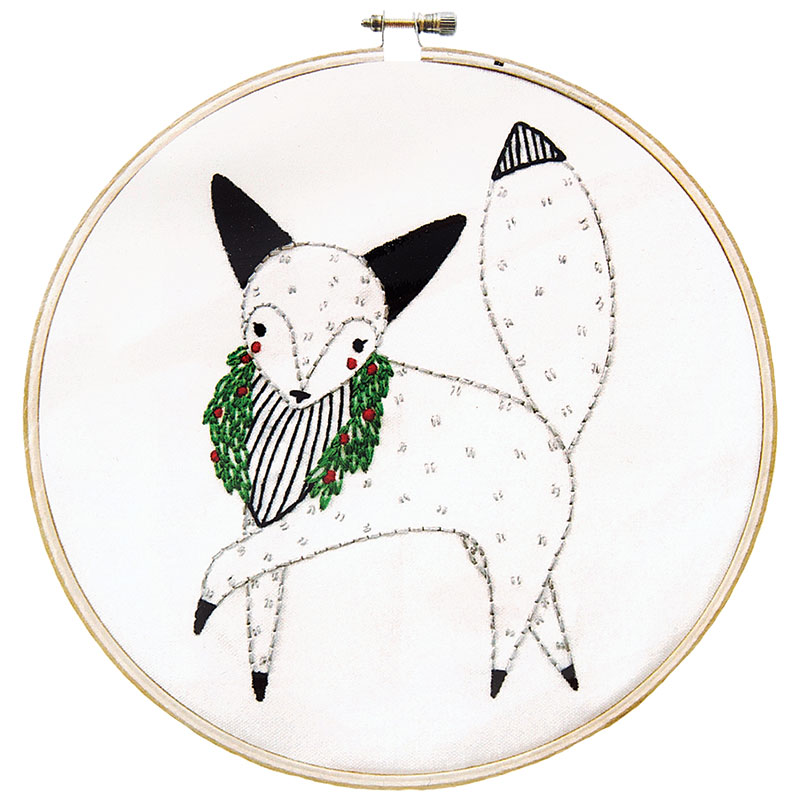 Embroidery Sampler/Fox: Merriment (Gingiber)