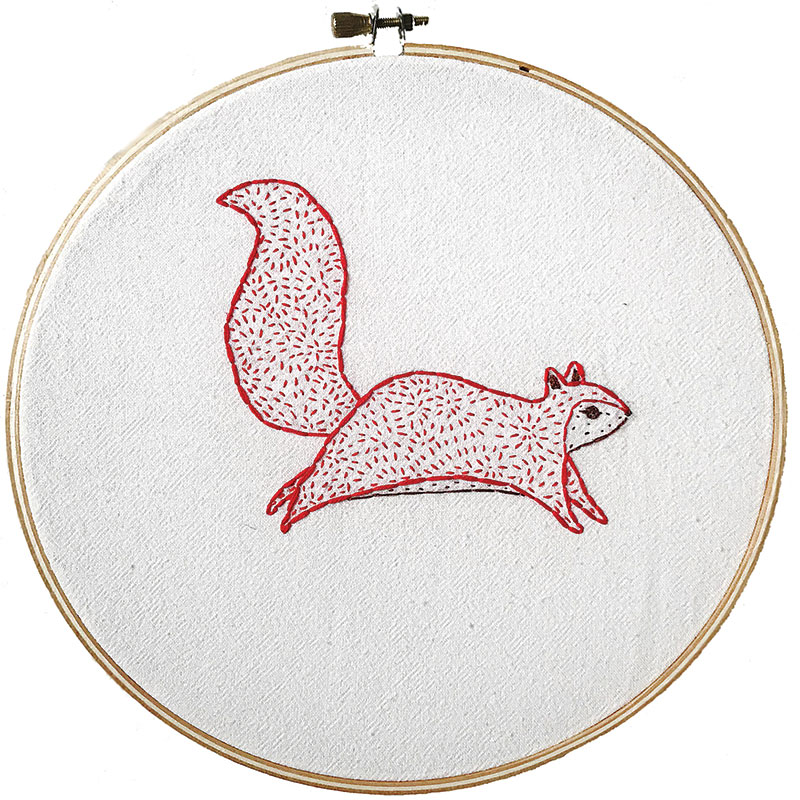 Bramble Embroidery Sampler  Squirrel