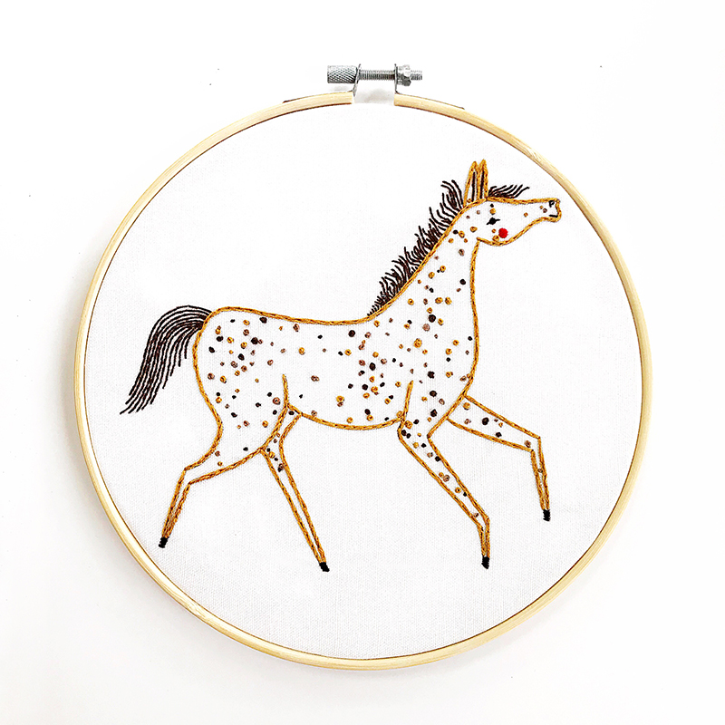 Dapple Pony Embroidery Sampler by Gingiber