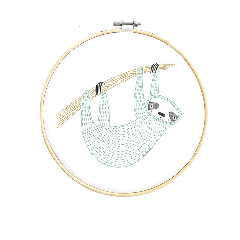 Gift - Embroidery Sampler Sloth