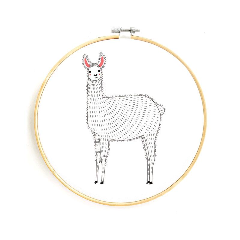 Gift - Embroidery Sampler Llama
