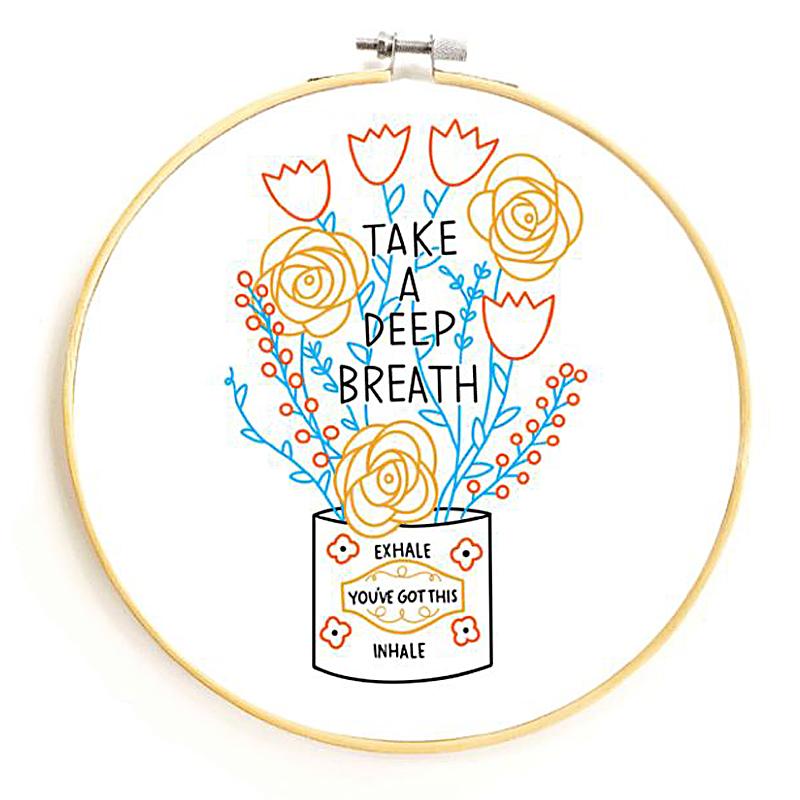 Embroidery Sampler/Take A Deep Breath (Gingiber)