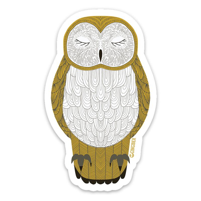 Sticker Nocturnal Owl