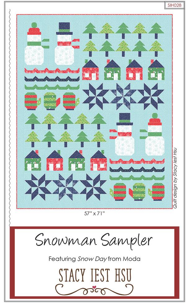 Snowman Sampler * Quilt Pattern 57x71