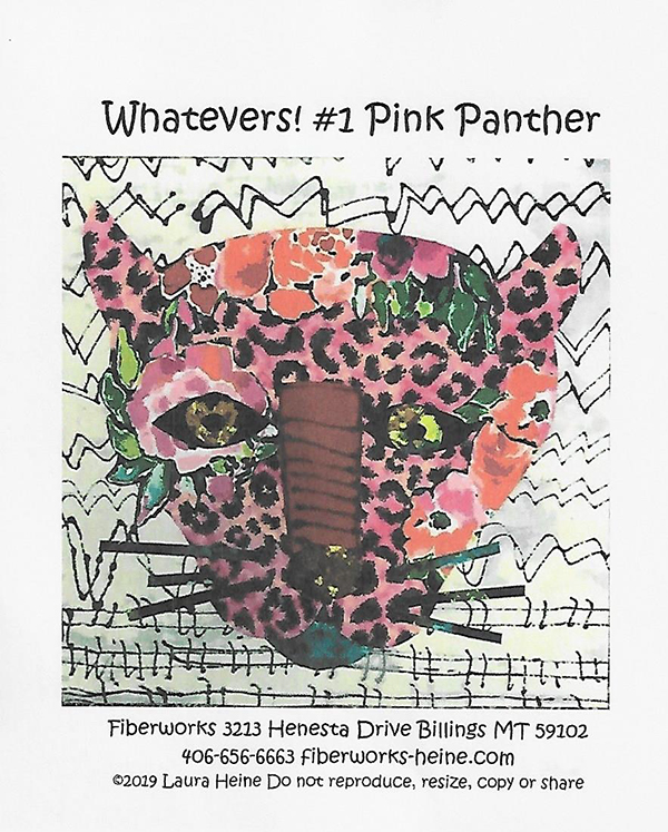 Whatevers #1 Pink Panther Laura Heine Pattern