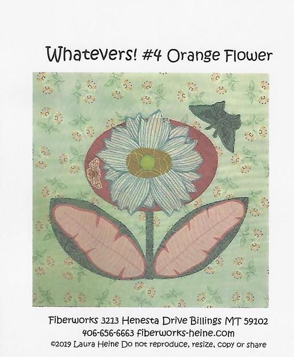 Whatevers #4 Orange Flower