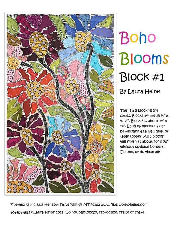 Boho Blooms BOM Block 1