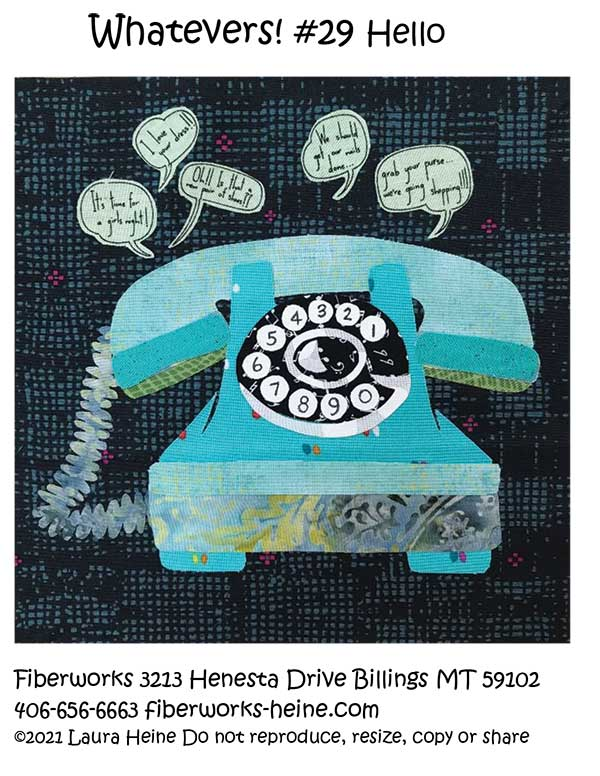 Whatevers #29 Hello Collage pattern by Laura Heine