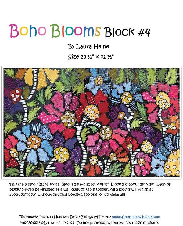 Boho Blooms BOM Block 4