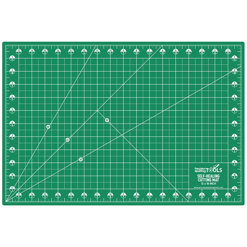 Self Healing Cutting Mat 12x18 Double Sided Green/Black