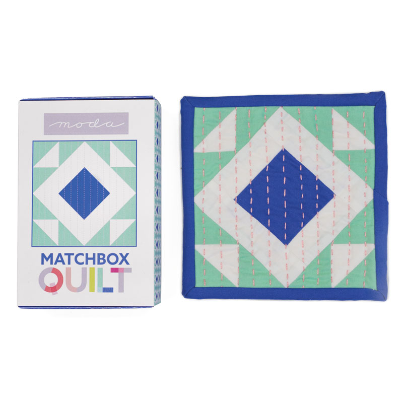 Matchbox Quilt Kit Cobalt Blue