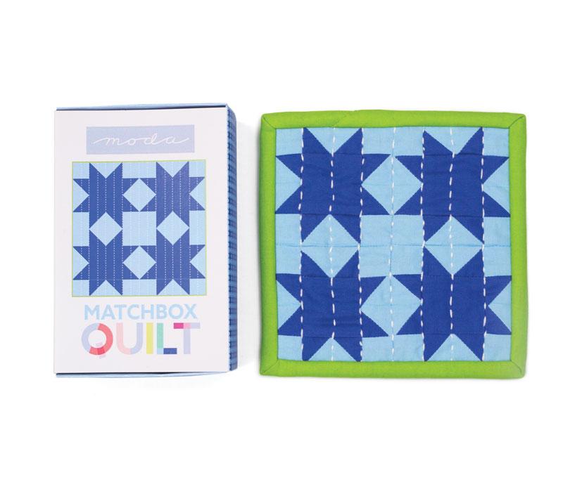 Matchbox Quilt Kit Light Blue