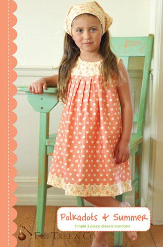 Polka Dots And Summer Dress Pattern