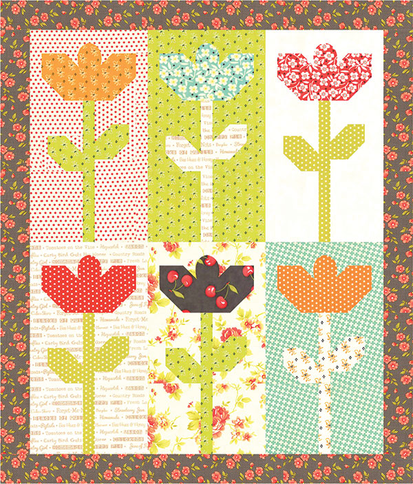 Mini Daisies Quilt Pattern by Fig Tree Quilts